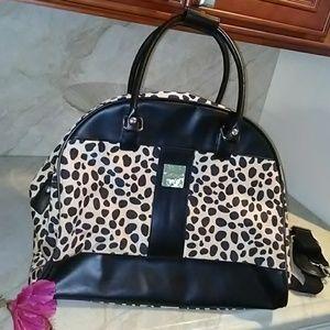 Lrg Travel Bag Luggage Isaac Mizrahi LEOPARD Print
